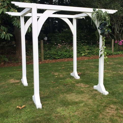 White Rustic Double Arch