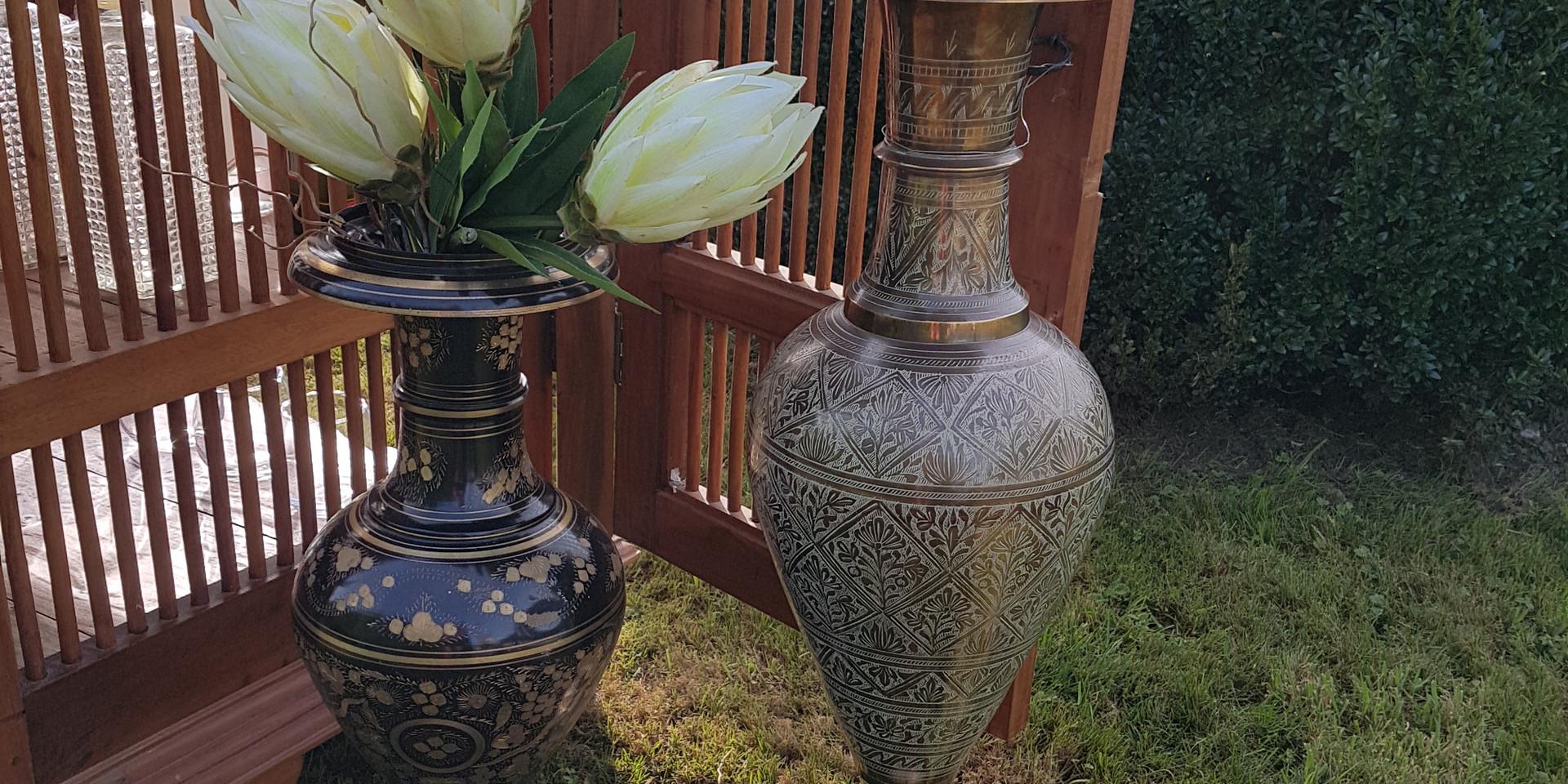 large brass vase