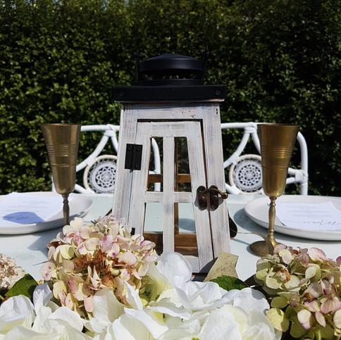 small whitewash wooden Lantern