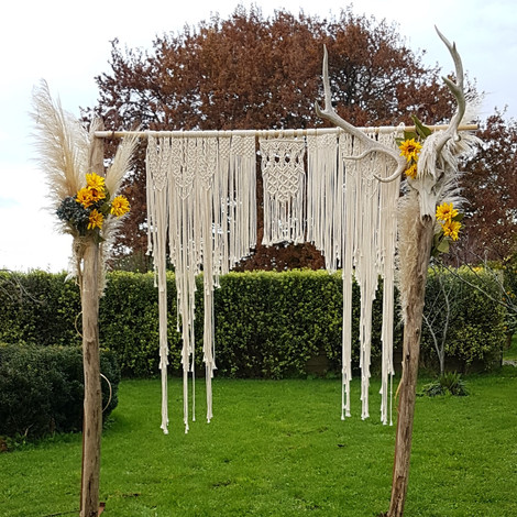 Champagne Macrame Archway / Backdrop