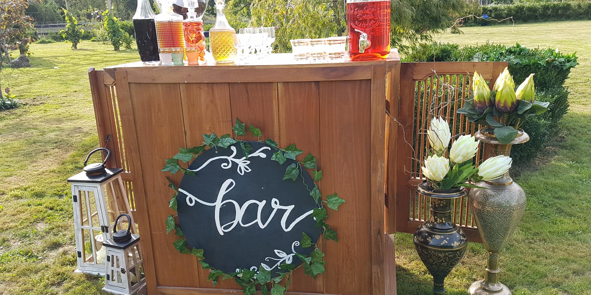 Rustic Wooden Bar
