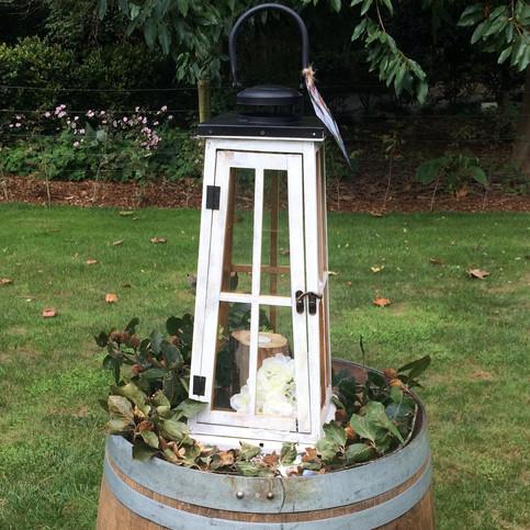 Large Whitewash Lantern
