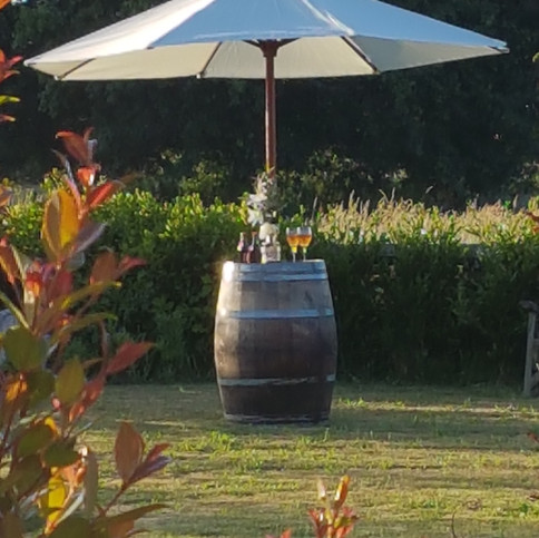Wine Barrel Umbrellas