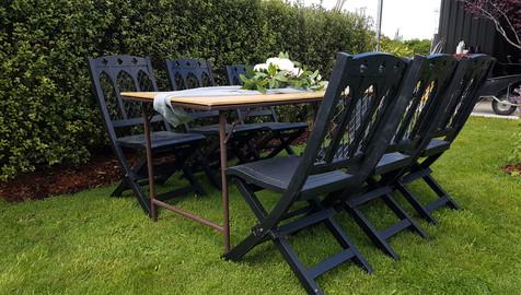 Vintage trestle table