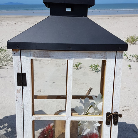 Rectangle Whitewash lantern