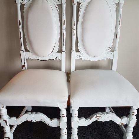 Vintage King and Queen Chairs