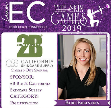 2019 Esthetician Connection Skin Games Contestant
