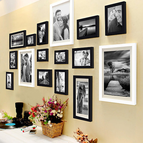 Photo frame installation
