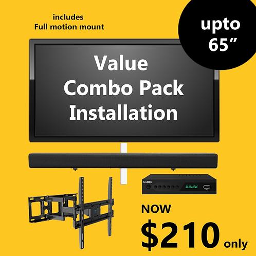 Value Combo Pack Installation (Full Motion Mount)