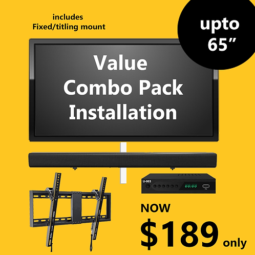 Value Combo Pack Installation (Tilting/Fixed Mount)