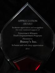 Tomorrow's Winners Youth Empowerment Program - Appreciation Award.JPG