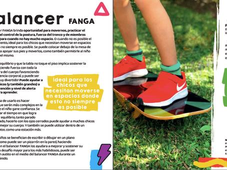 El balancer FANGA como invitación a movernos, bajo la mirada de Malena Bonati, terapista ocupacional