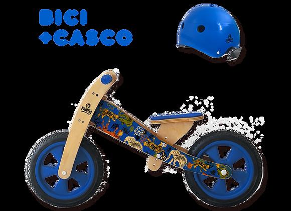 Combo Camicleta Fauna Azul + Casco