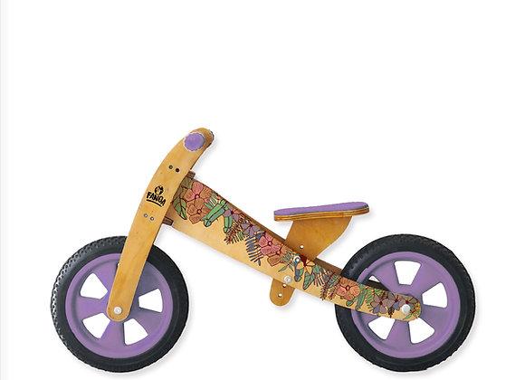 Bicicleta sin pedales Floral Lila