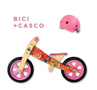 Combo Bici Floral Rosa  + Casco
