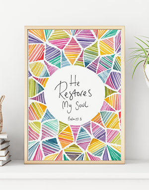 'He Restores My Soul' Print