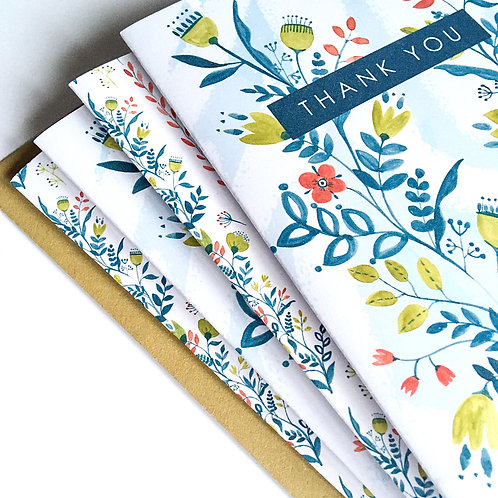 FLORAL STEM Pack of 8 Cards
