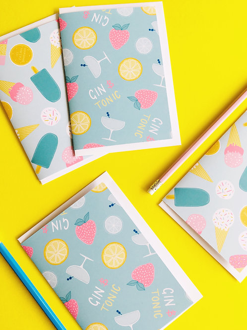 GIN & TONIC ICE CREAMS set of cards