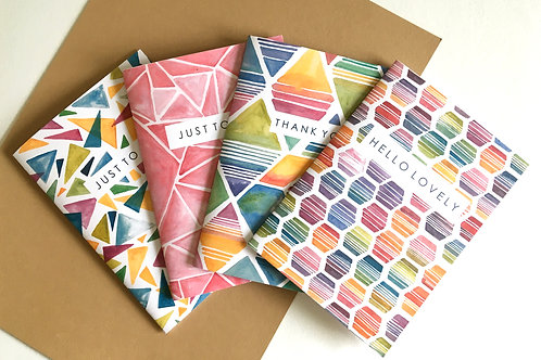 'ABSTRACT' COLLECTION notecard pack