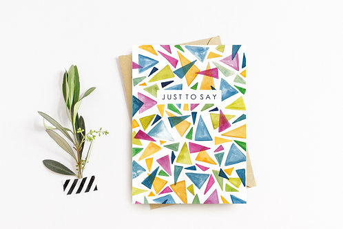 'ABSTRACT TRIANGLE' Card