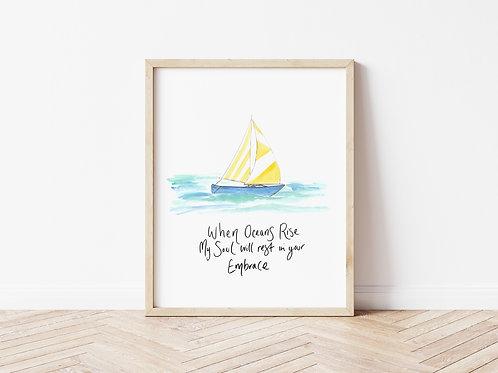 'WHEN OCEANS RISE' Print
