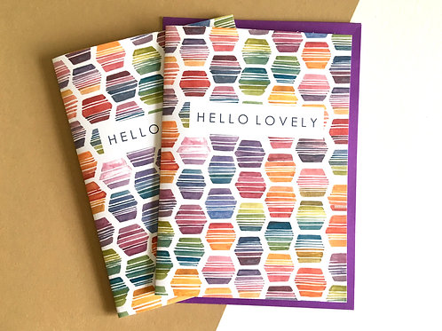 'HELLO LOVELY' Rainbow Hexagon (Pack of 8)