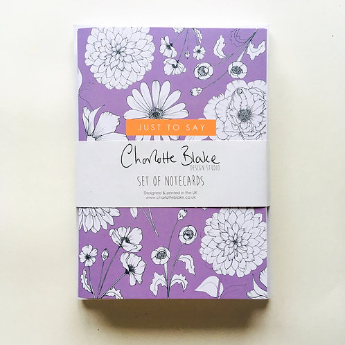 CONTRAST FLORAL Pack of Cards
