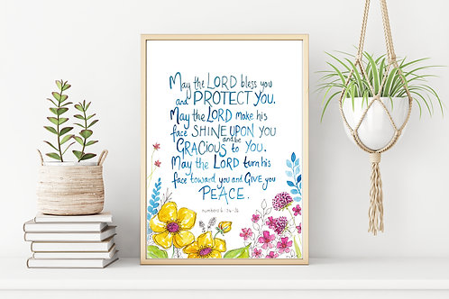 'MAY THE LORD BLESS YOU' Colour Print