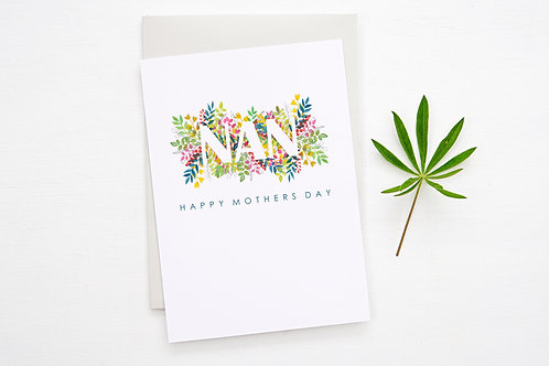 NAN Floral 'Mothers Day' Card