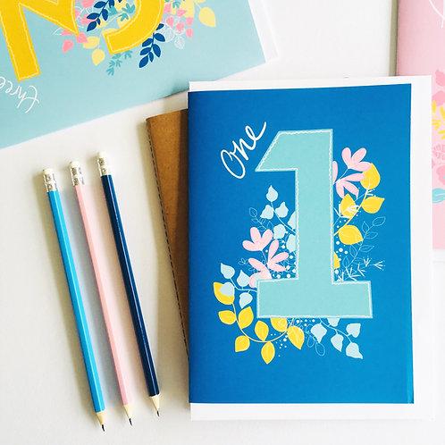 Floral Number Custom Card