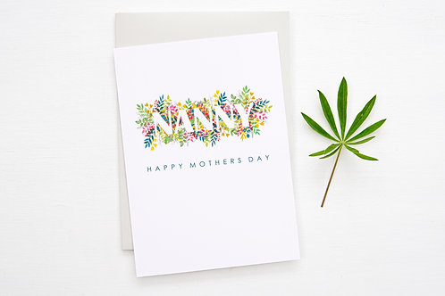NANNY Floral 'Mothers Day' Card