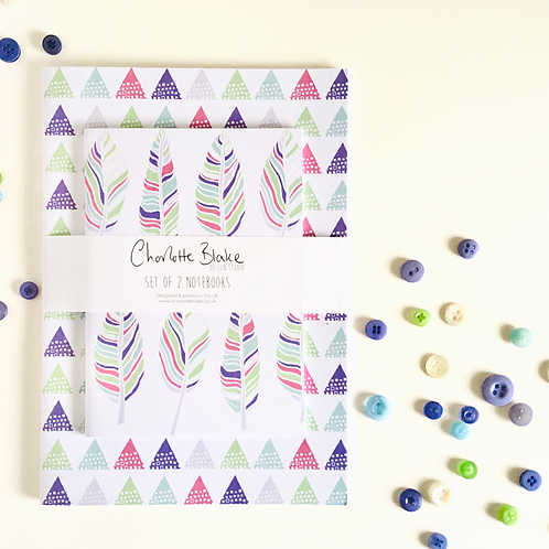Feather Notebooks (set of 2)