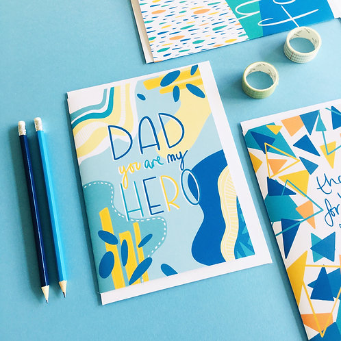 'Dad You Are My Hero' Card