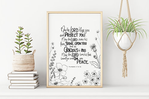 'MAY THE LORD BLESS YOU' Print