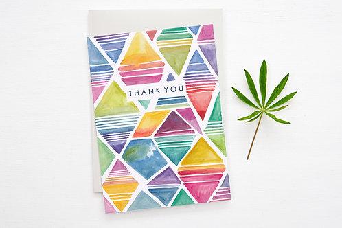 'THANK YOU CARD' (Abstract Diamonds)
