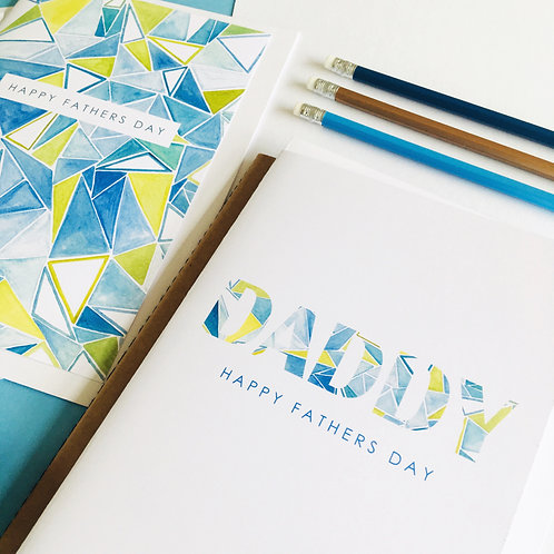 PERSONALISED ABSTRACT TEXT CARD