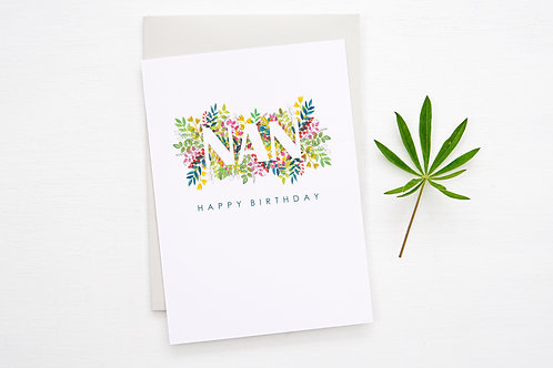 NAN Floral 'Birthday' Card