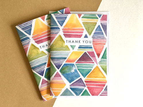 'THANK YOU' Abstract Diamonds (Pack of 8)