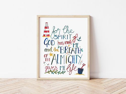 'THE SPIRIT OF GOD' Print
