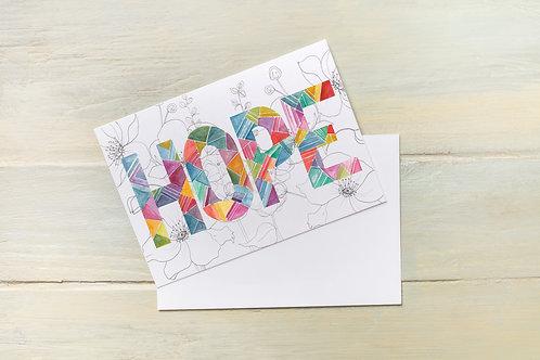 'HOPE' FLORAL CARD