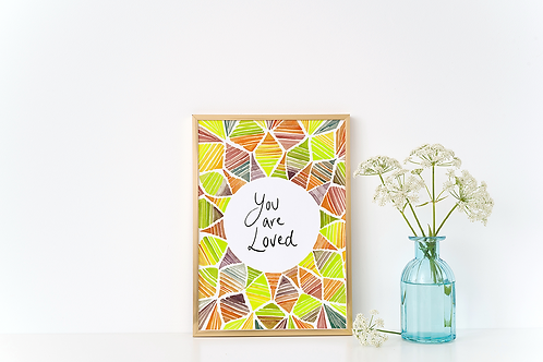 YOU ARE LOVED ABSTRACT PRINT