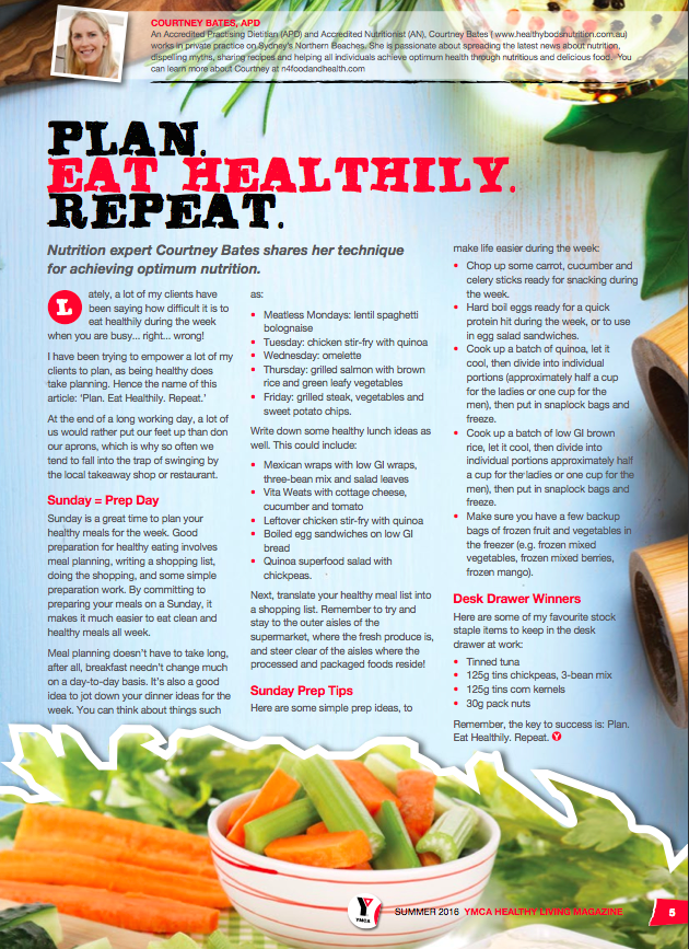 YMCA Healthy Living Magazine Summer