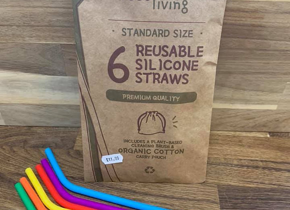 Silcone Straws 6 pack