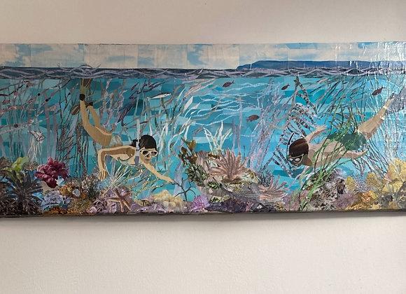 Snorkelers in Lyme Bay