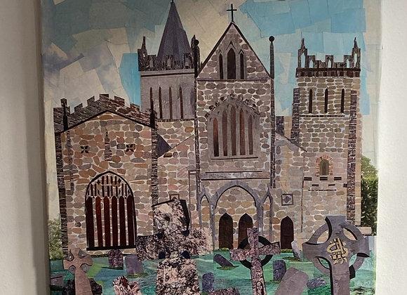 Ottery St Mary church on canvas