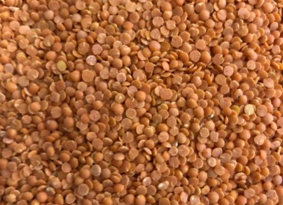 Plastic free organic red lentils
