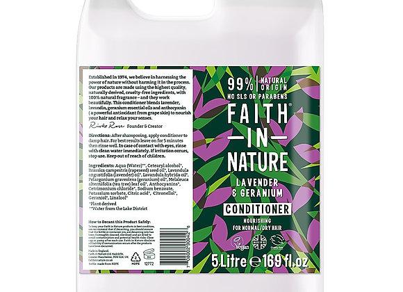 Faith in Nature lavender and geranium conditioner in 5 litre container