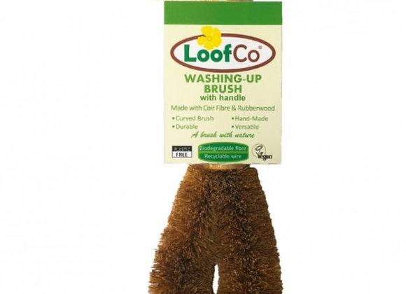 Loofco eco friendly plastic free bamboo washing up brush