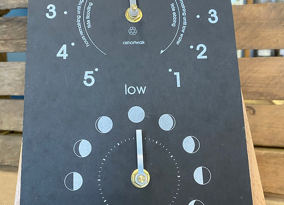 Ashortwalk Vertical Moon & Tide Clock