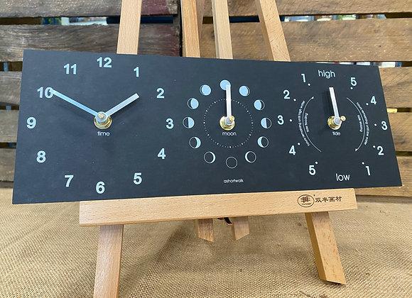 Ashortwalk Clock, Moon & Tide